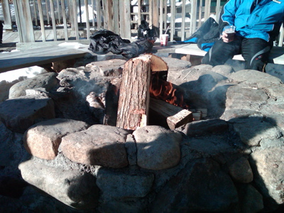 The fire pit at White Cap Lodge.